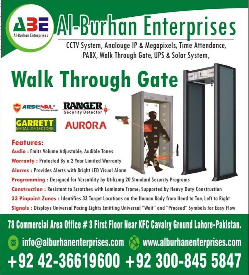 Walk Through Metal Detector Gates All ZONE & All Brands Available 0