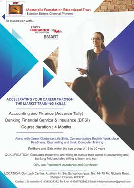 Banking, Accounts, Finance and Insurance -Training & Placement program