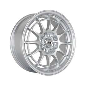 Velg mobil racing SPIDER R15x7 h8x100-114,3 silver . free balancing