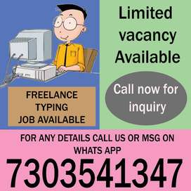 need a freshers for typing job for home based job