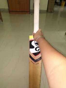 Sg cricket bat with gloves