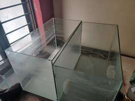 Broken cracked aquarium tanks