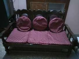 3+ 2 seater Wooden sofa.