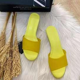 Zara Rubber Heels Sandal