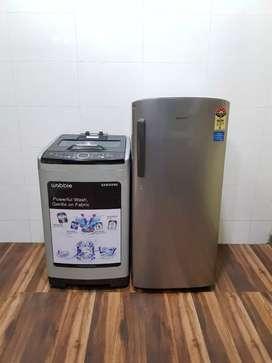 Samsung 6.8kg fully automatic washing machine n refrigerator