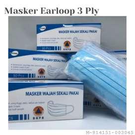 MASKER MEDIS 3PLY EARLOOP DISPOSABLE - 50PCS