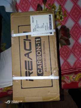 Reach-Carbon 5-in-1 Adjustable Dumbell. 2.2-11kg. Brand New Sealed