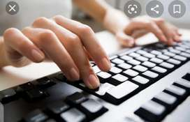 Home based simple typing and data entry jobs available for fresh femal