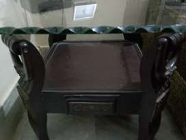 Side table pair with 6mm glass for sell