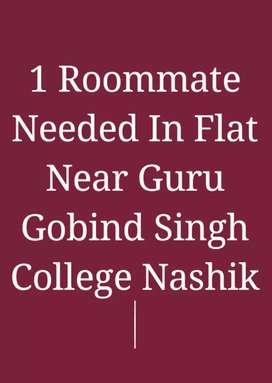 1 Male Roommate Needed in Flat Near Guru Gobind Singh College Nashik