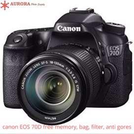 Canon EOS 70d kit 18-55mm full set bonus
