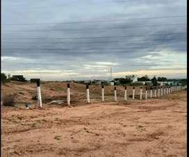 100 acre Mandela Nagar Roundana nadurai airport