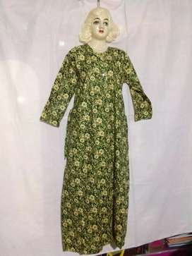 Cotton Printed Three Fourth Night Gowns