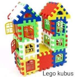 Mainan Lego Funny block Building block susun bentuk rumah
