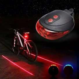 Lampu laser sepeda taillight 5 led dan 2 laser