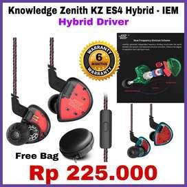 KZ ES4 Knowledge Zenith Original Headset IEM - Garansi Toko 6 Bulan