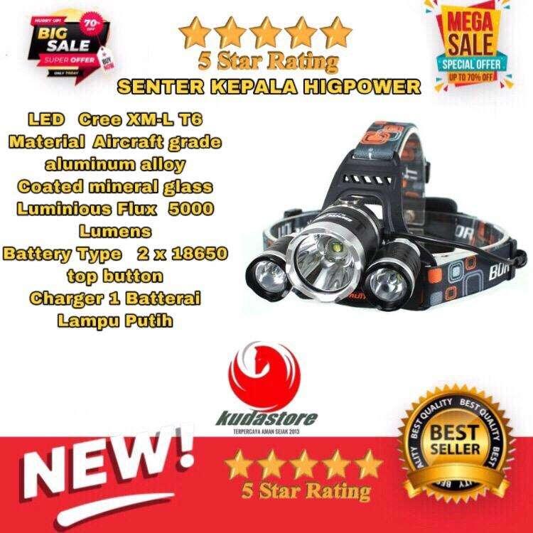 Senter Kepala Super Terang JIS0181 Suplier Kudastore Bali 0