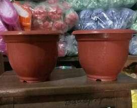 Baru pot bunga merah 15 cm per lusin
