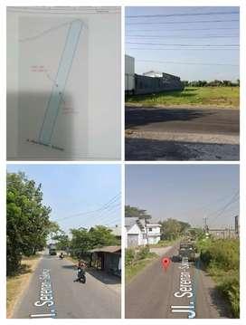 Lahan Gudang dan industri 4875m2 diKlaten 1jt/m2