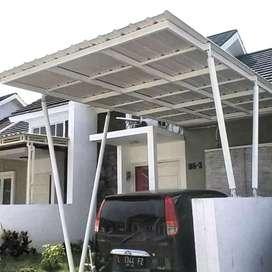 @77 canopy minimalis rangka tunggal atapnya alderon pvc bikin nyaman