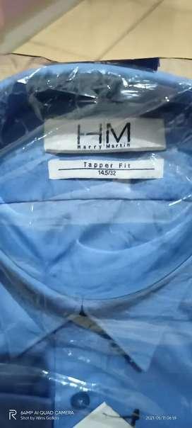 kemeja H&M biru