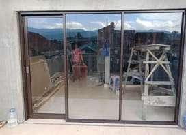 Alumunium kusen pintu kaca a414n