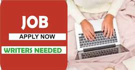 Workers needed for writing job apply now