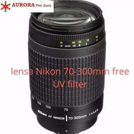 Nikon 70-300mm tele + uv filter