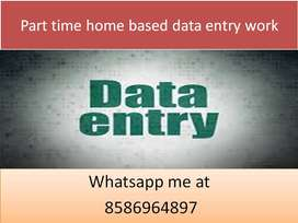 Offline Data Entry Job, part-time job,typing Copy Paste Job JOIN now.