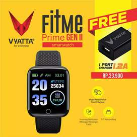 VYATTA FitMe Prime Smartwatch - ColorLCD, HeartRate, Oxygen,Waterproof
