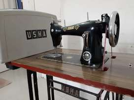 USHA Sewing Machine with Table and USHA cover
