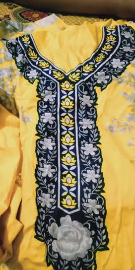 Yellow lawn suits