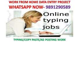 DATA ENTRY JOB OF TYPING HOME BASED PART TIME WORK AVAILABLE