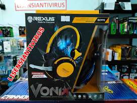 Rexus Headset Gaming Vonix RX995 Include MIcrophone For Better Gaming