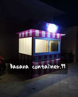Container roti bakar, container makanan, booth container, container