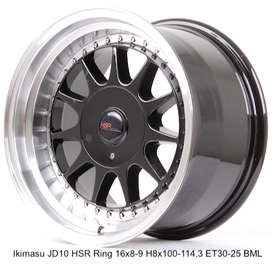 velg racing mobil toyota vios HSR R16X8-9 H8X100-114,3 ET30-25 BML