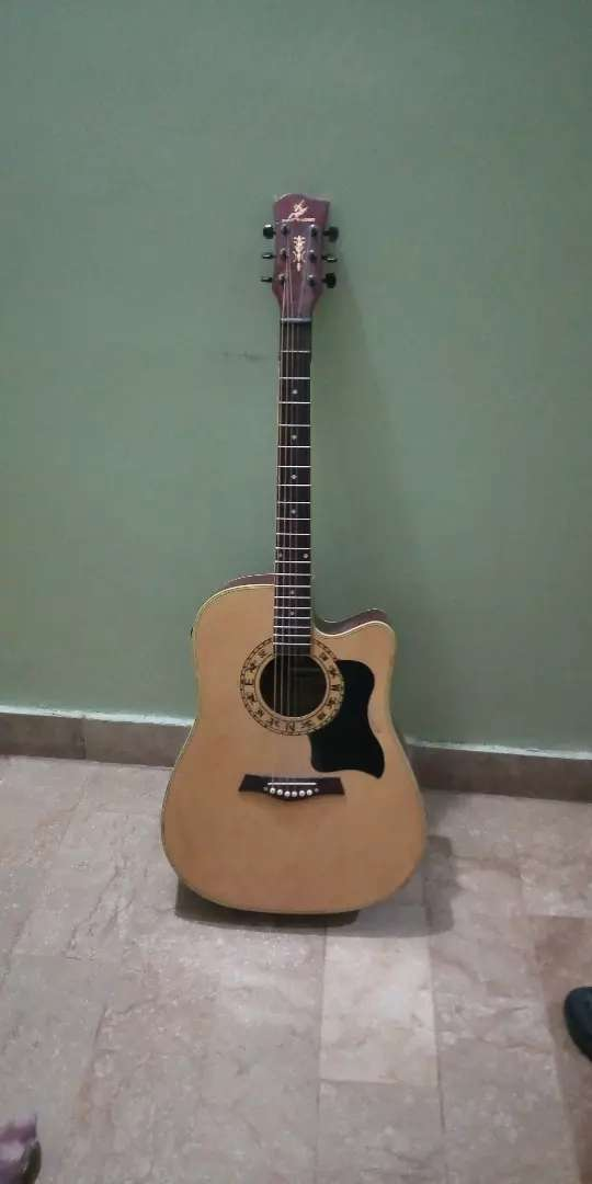 41 Inch jumbo semi acoustic guitar 0