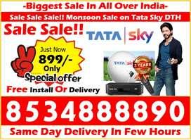 Hurry All India! Tata Sky Available rs.899/- Tatasky Dishtv Airteltv
