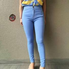 Celana Highwaist Light Blue Wanita