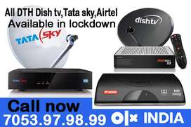 NEW Airtel Dish tv Tatasky DTH HD Connection Dishtv Tata sky AirtelHD