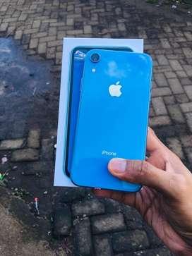 Jual iphone Xr Blue 64gb mulus 99%