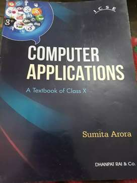 Computer applications book for class X(10th)