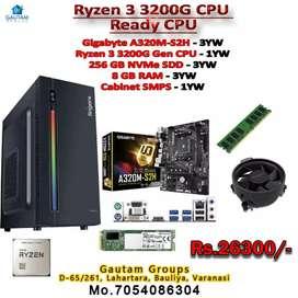 RYZEN3 3200G NEW CPU GIGABYTE A320 8GB RAM 256gb nvme SSD RGB CABINET