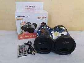 Speaker portabel advance tp-200 bluetooth batre + fm + usb + Stereo
