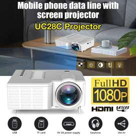 UC28C Portable Video Projector Children Teaching School 10W 10-60 Inch