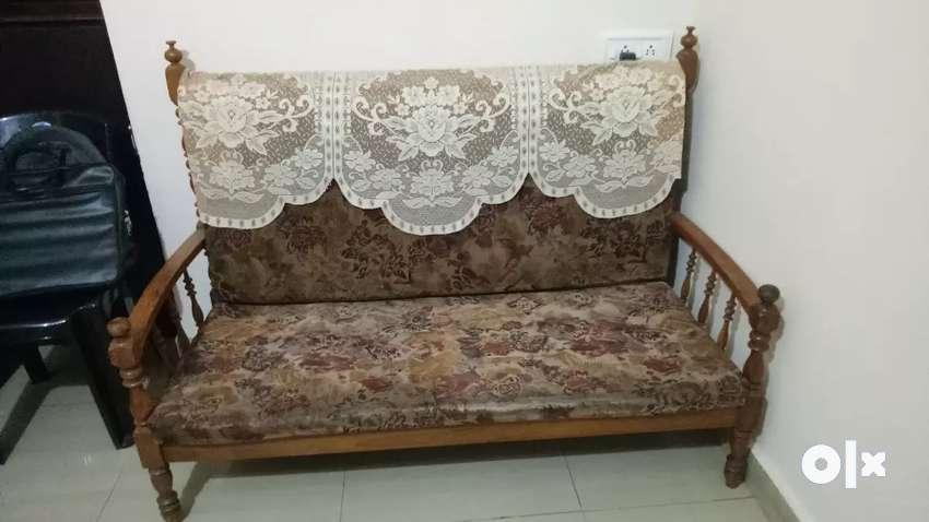 Sofa set- teak wood