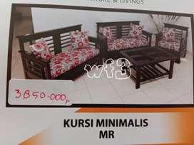 Kursi Kayu  Minimalis Jok Busa Mewah Free Ongkir Medan.