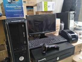 Komputer Fullset KASIR siap pakai dgn system ipos dan pendukung lain