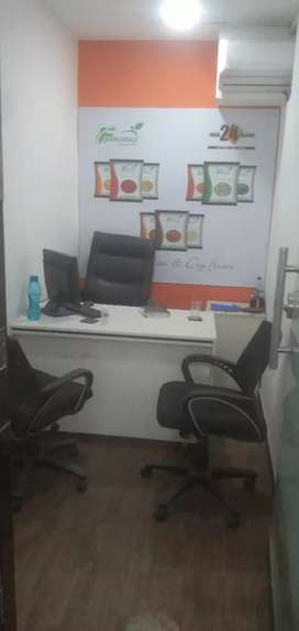 Big director cabin1 reception 1 + 40 workstations for rant in Noida