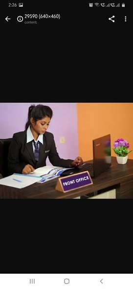Frontoffice cum receptionist  for females only.